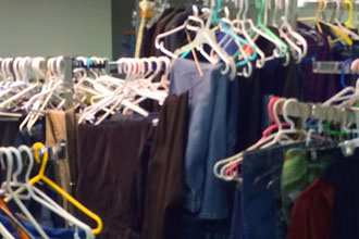 lots of clothes and hangers